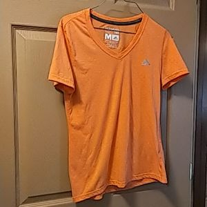 Adidas womens ultimate t shirt M ornage v neck